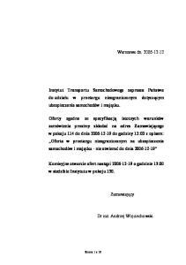 Warszawa dn