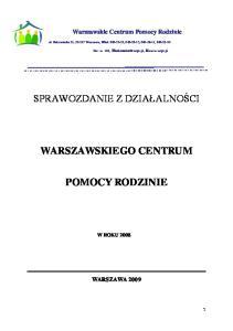 WARSZAWSKIEGO CENTRUM