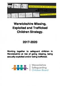 Warwickshire Missing, Exploited and Trafficked Children Strategy