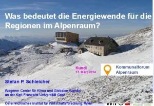 Was bedeutet die Energiewende für die Regionen im Alpenraum?