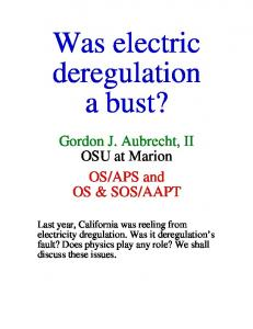 Was electric deregulation a bust?