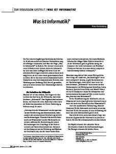 Was ist Informatik? 1