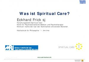 Was ist Spiritual Care?