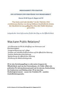 Was kann Public Relations?