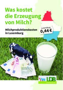 Was kostet die Erzeugung von Milch?