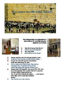 Was sagen uns 60 Jahre Israel?