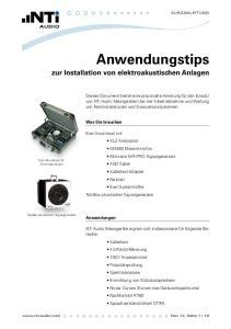 Was Sie brauchen. Exel Akustikset mit XL2 Analysator M4260 Messmikrofon