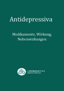 Was sind Antidepressiva?