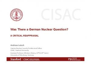 Was There a German Nuclear Question?