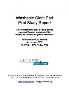 Washable Cloth Pad Pilot Study Report