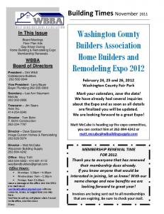 Washington County Builders Association Home Builders and Remodeling Expo 2012