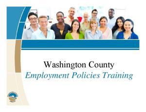 Washington County Employment Policies Training