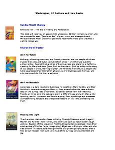 Washington, DC Authors and their Books