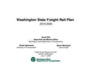 Washington State Freight Rail Plan