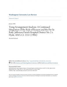 Washington University Law Review