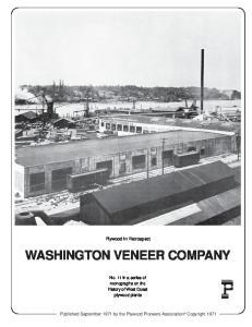 WASHINGTON VENEER COMPANY