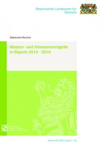 Wasser- und Abwasserentgelte in Bayern