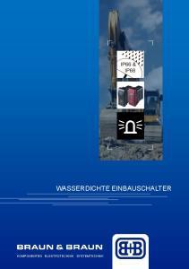 WASSERDICHTE EINBAUSCHALTER KOMPONENTEN ELEKTROTECHNIK SYSTEMTECHNIK