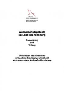 Wasserschutzgebiete im Land Brandenburg