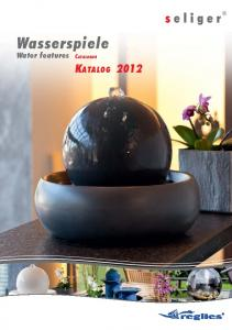 Wasserspiele. Water features CATALOGUE KATALOG 2012