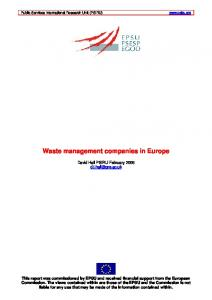 Waste management companies in Europe