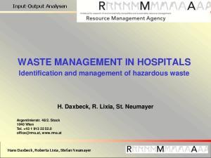 WASTE MANAGEMENT IN HOSPITALS