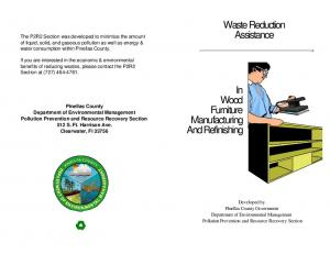 Waste Reduction Assistance. In Wood Furniture Manufacturing And Refinishing