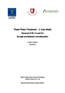 Waste Water Treatment A Case Study