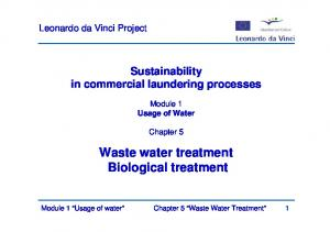 Waste water treatment Biological treatment