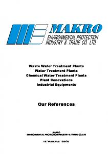 Waste Water Treatment Plants Water Treatment Plants Chemical Water Treatment Plants Plant Renovations Industrial Equipments