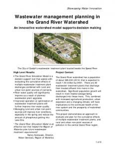 Wastewater management planning in the Grand River Watershed