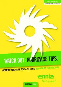 WATCH OUT: HURRICANE TIPS!