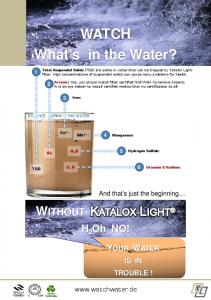 WATCH What's in the Water?