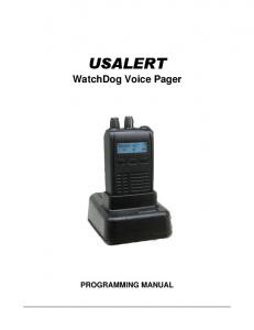 WatchDog Voice Pager PROGRAMMING MANUAL