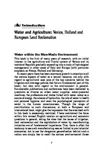 Water and Agriculture: Venice, Holland and European Land Reclamation