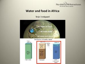 Water and food in Africa