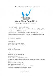 Water China Expo 2015