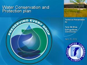 Water Conservation and Protection plan