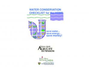 WATER CONSERVATION CHECKLIST for the HOME