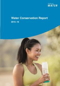 Water Conservation Report