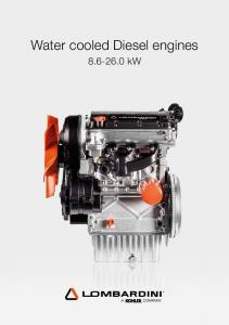 Water cooled Diesel engines kw