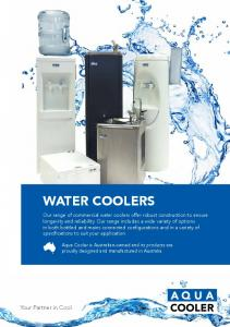 Water Coolers. Your Partner in Cool