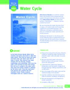 Water Cycle. Reader. Students will