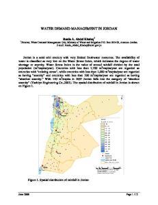 WATER DEMAND MANAGEMENT IN JORDAN