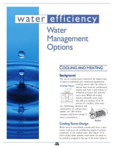 water efficiency Water Management Options COOLING AND HEATING
