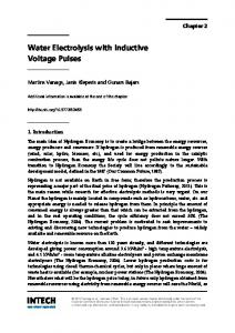 Water Electrolysis with Inductive Voltage Pulses