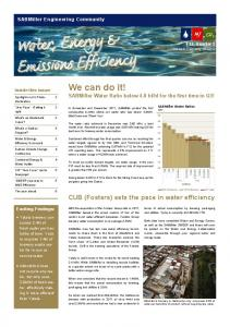 Water, Energy & Emissions Efficiency