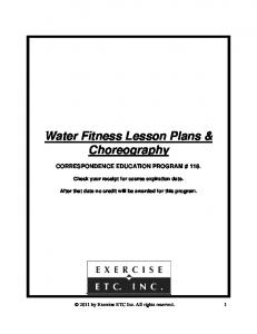Water Fitness Lesson Plans & Choreography