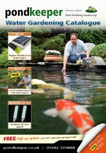 Water Gardening Catalogue