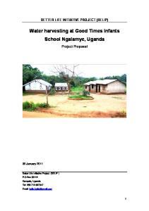 Water harvesting at Good Times Infants School Ngalamye, Uganda